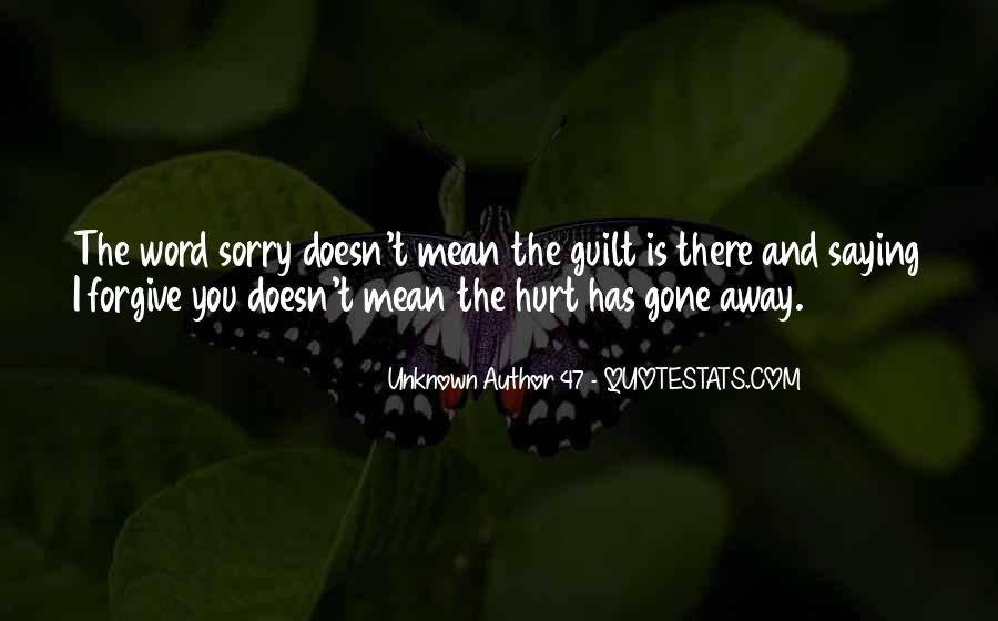 Quotes About Saying Sorry To Someone You Hurt #182344