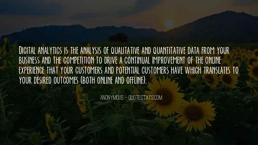 Quotes About Qualitative Data #1785014
