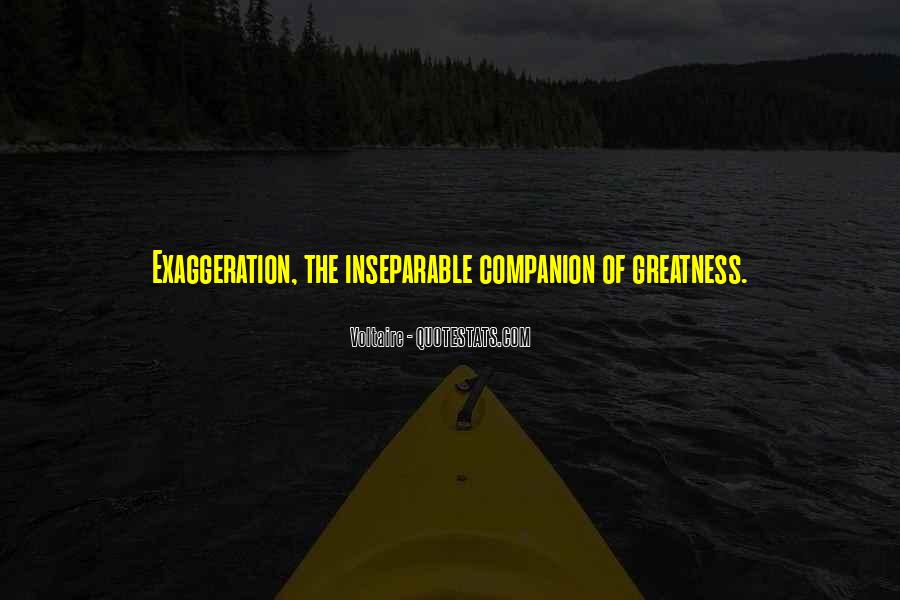 Quotes About Exaggeration #356828