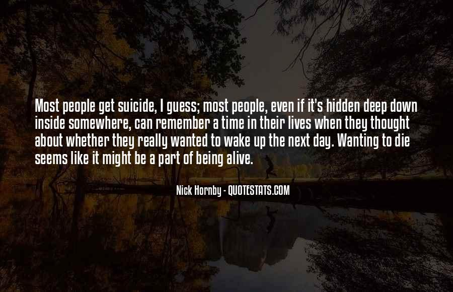 Quotes About Suicidal #302959
