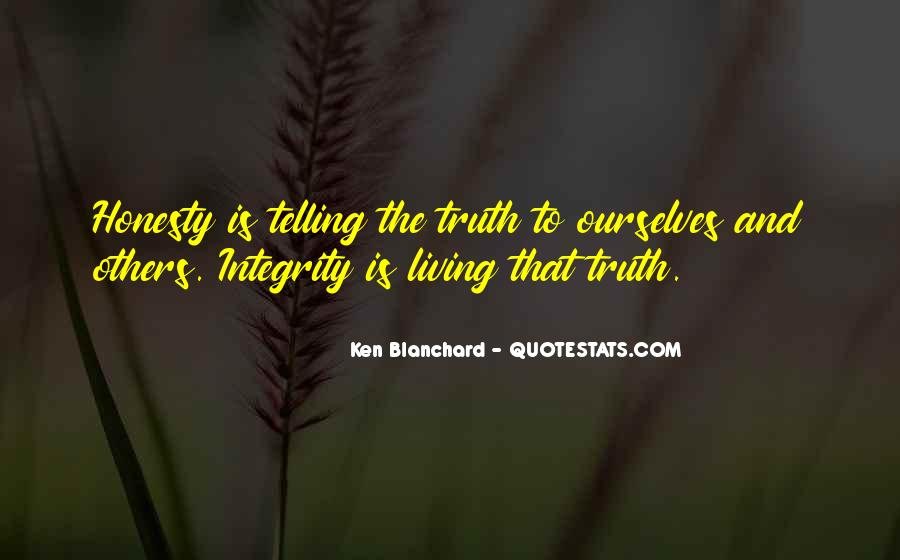 Quotes About Honesty And Integrity #594946