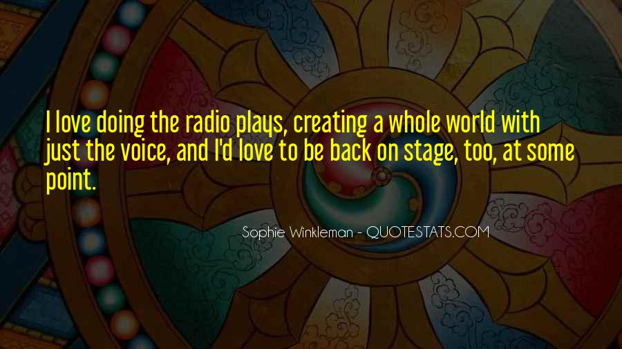 Quotes About Voice And Love #214451