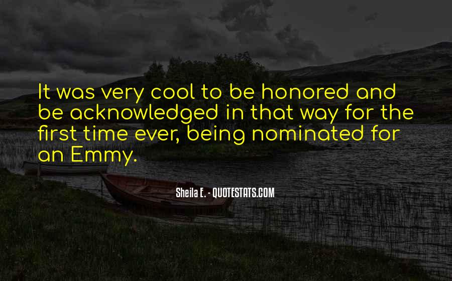 Quotes About Being Nominated #1571277