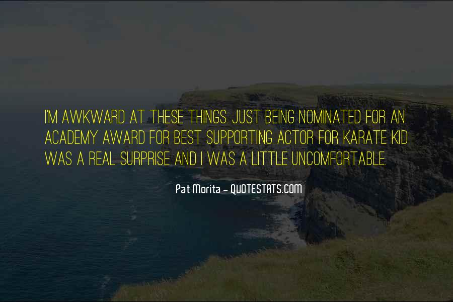 Quotes About Being Nominated #1794867