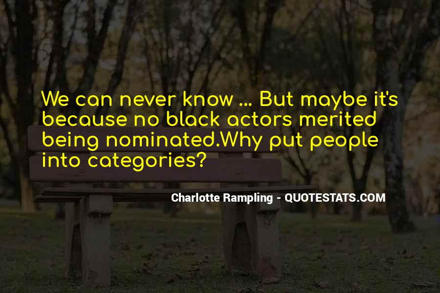 Quotes About Being Nominated #1835815