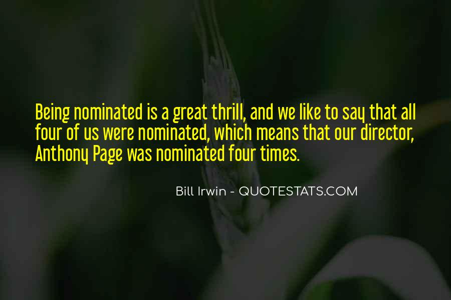 Quotes About Being Nominated #254555