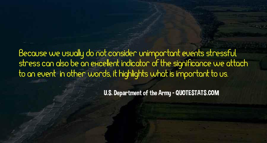 Quotes About Important Events #1234637