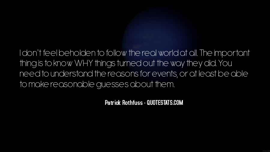 Quotes About Important Events #1281276