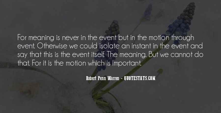 Quotes About Important Events #1517106