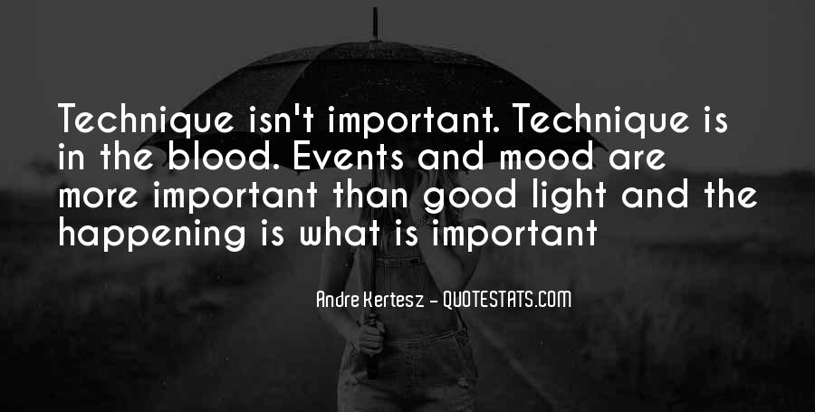 Quotes About Important Events #462210
