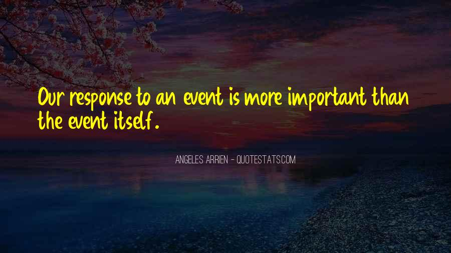 Quotes About Important Events #619263