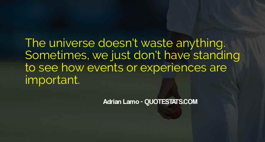 Quotes About Important Events #651911