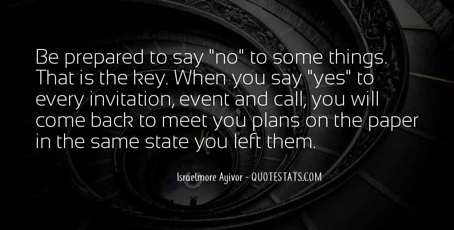 Quotes About No Plans #336022