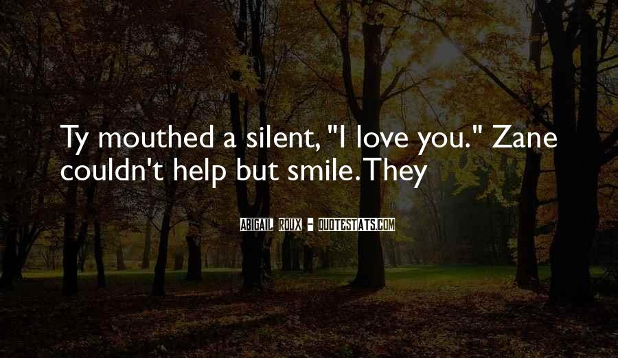 Quotes About Silent Love #51220