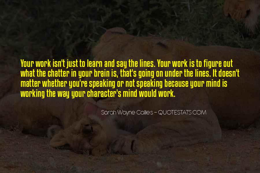 Quotes About Not Speaking Your Mind #846326