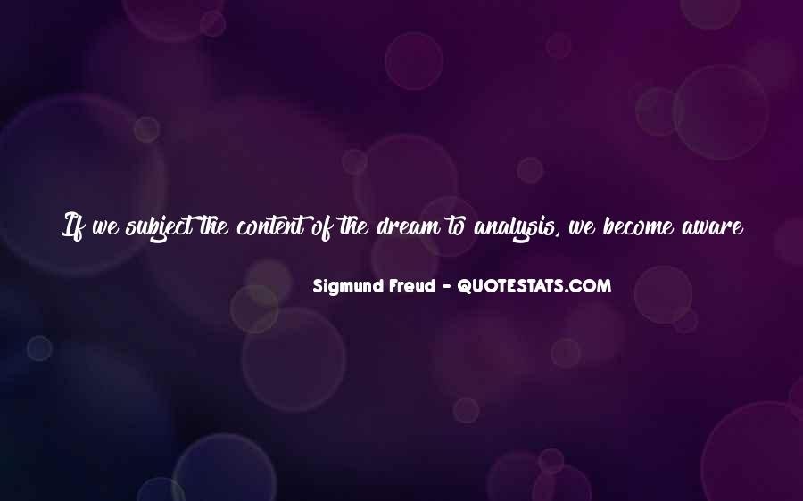 Quotes About Dream Analysis #1813474