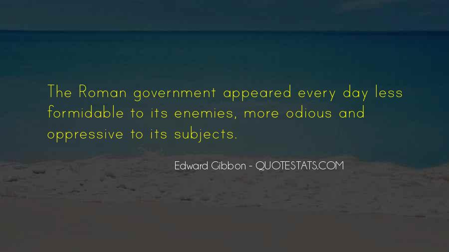 Quotes About Roman Government #20407