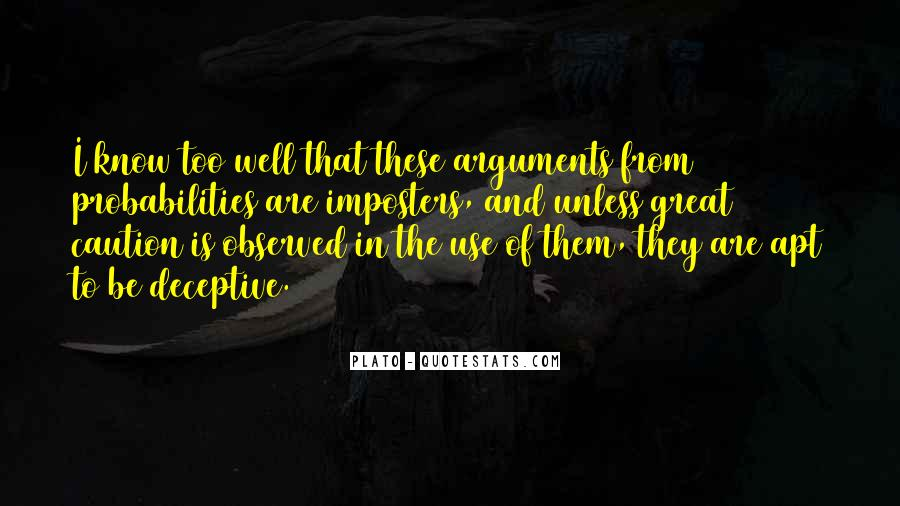Quotes About Imposters #130363