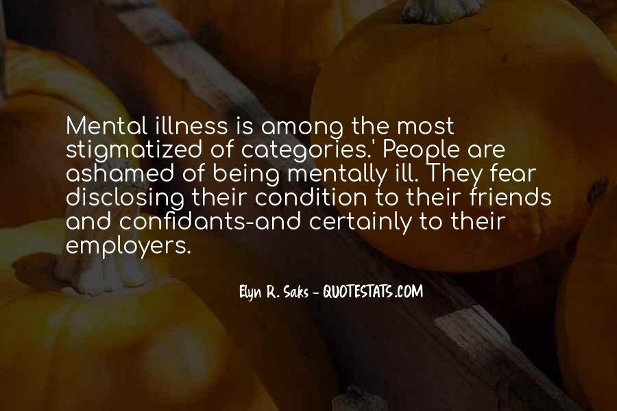 Quotes About Stigma Of Mental Illness #1303707