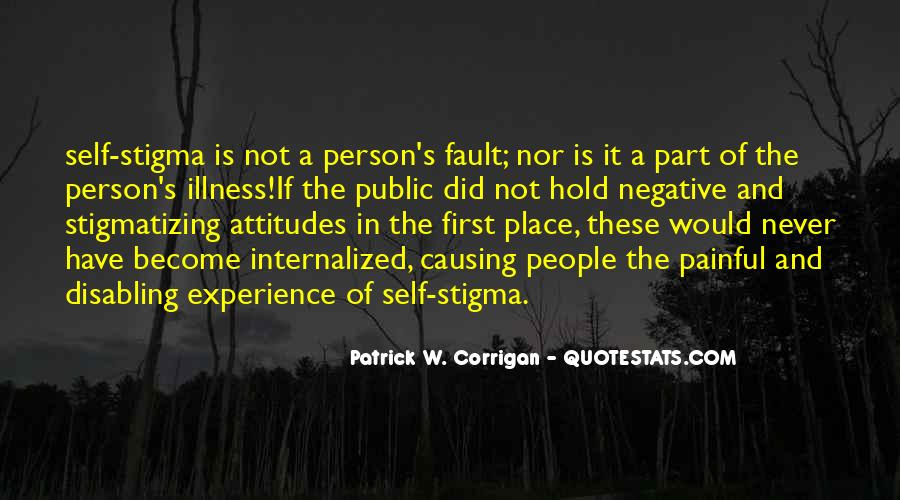 Quotes About Stigma Of Mental Illness #1328776