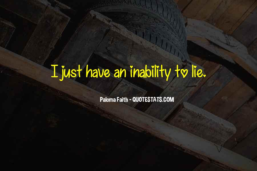 Quotes About Inability #186767