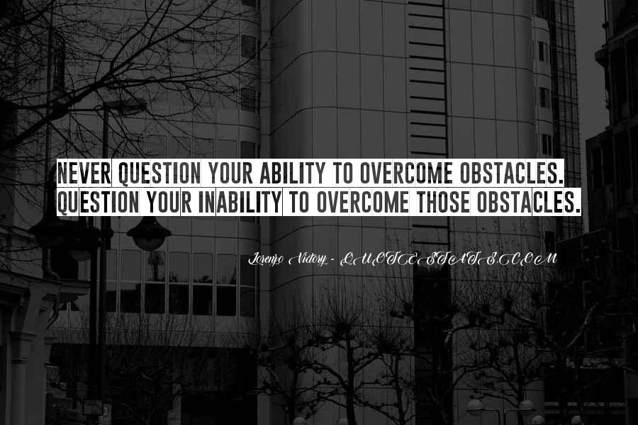 Quotes About Inability #208710