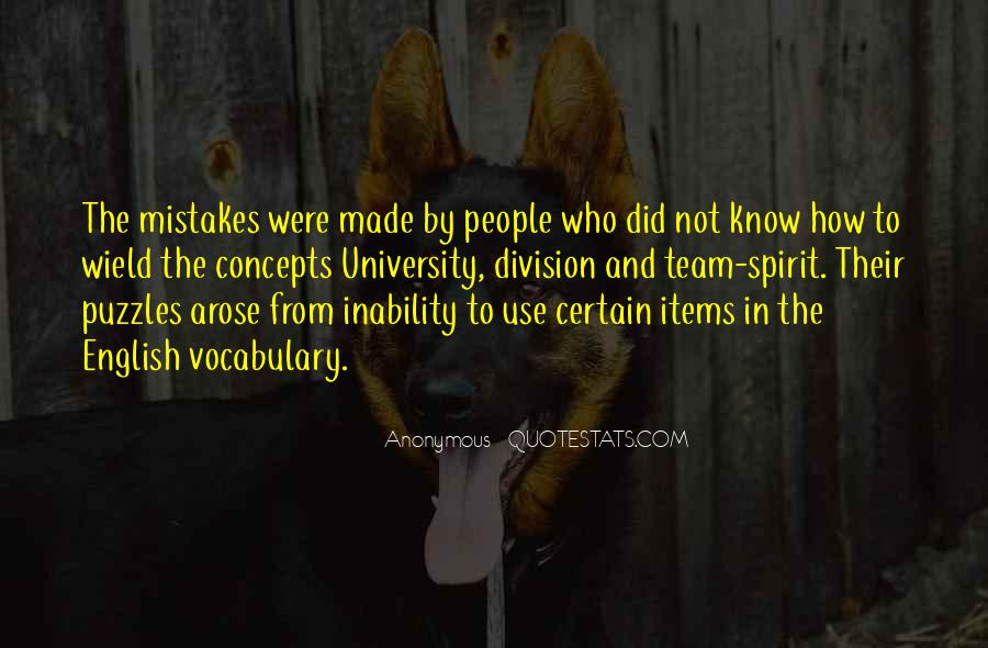 Quotes About Inability #286199