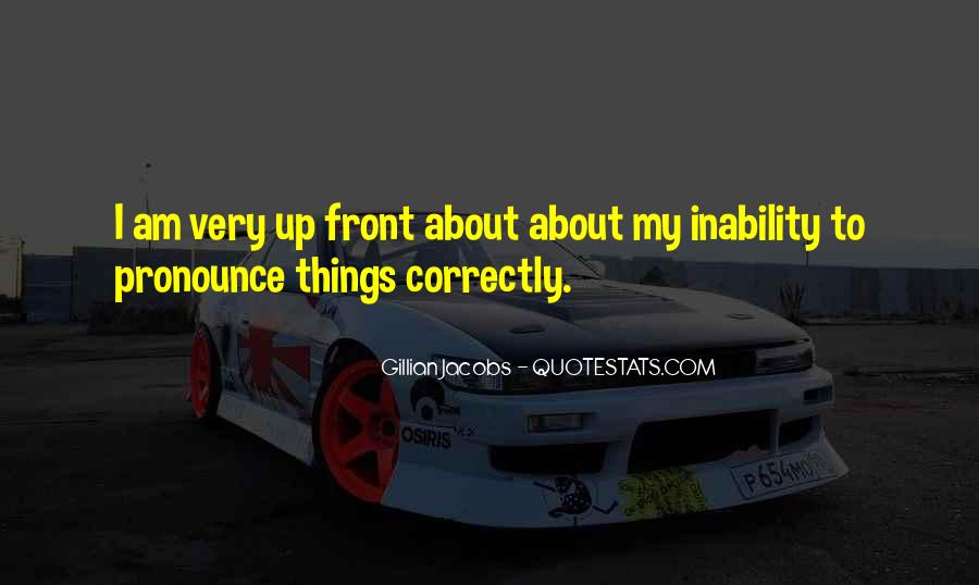 Quotes About Inability #312759