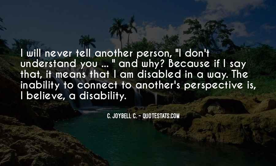 Quotes About Inability #55174