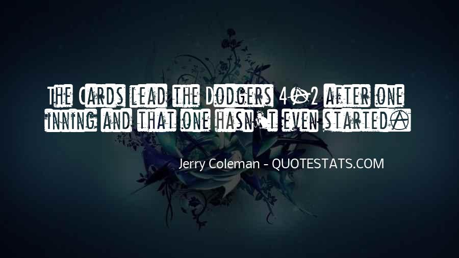 Quotes About Dodgers #166724