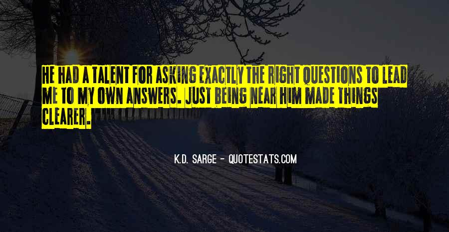 Quotes About Answers #10746