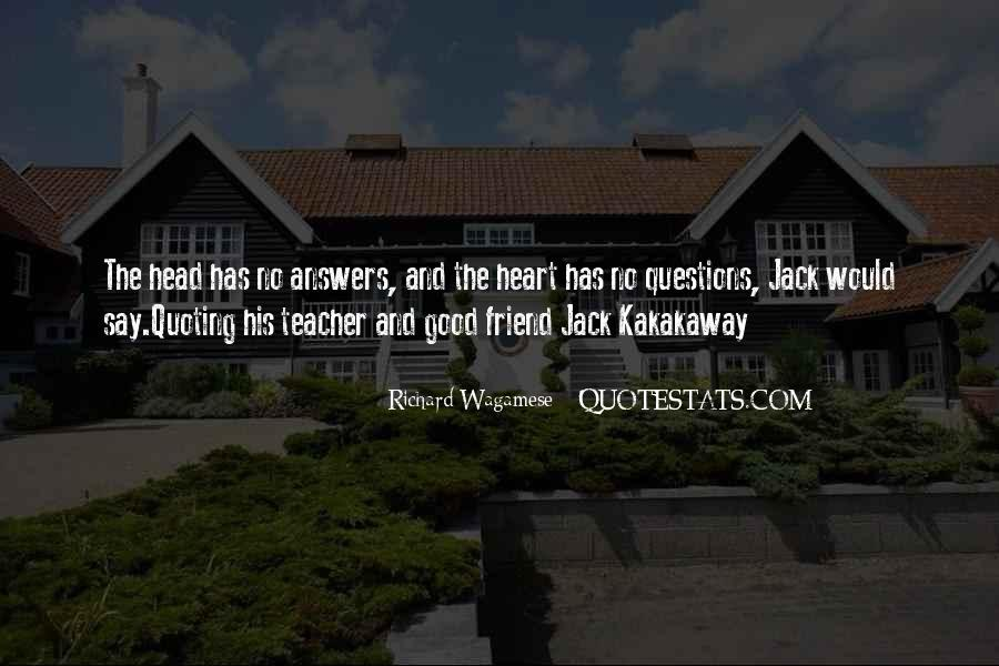 Quotes About Answers #17325