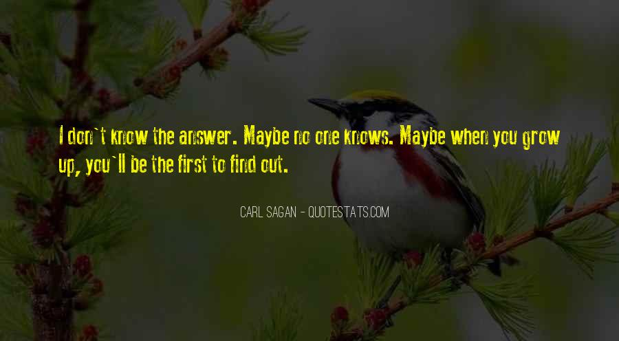Quotes About Answers #22142