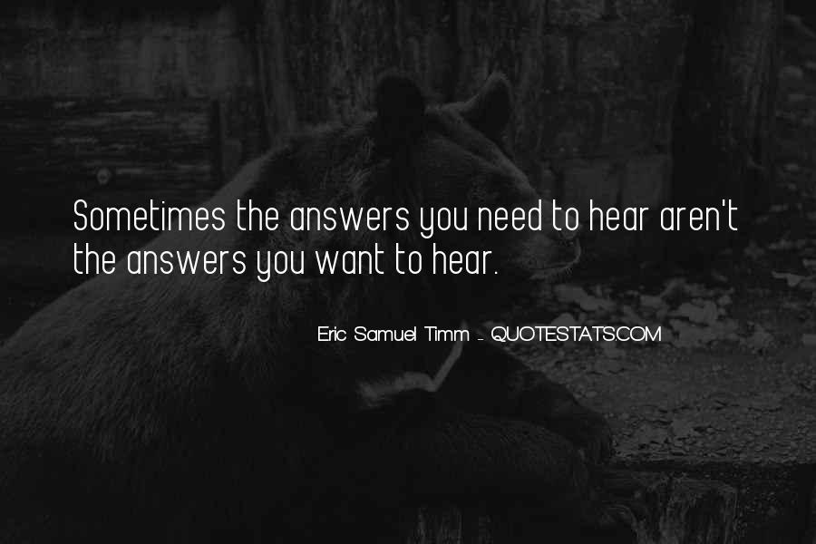 Quotes About Answers #27859