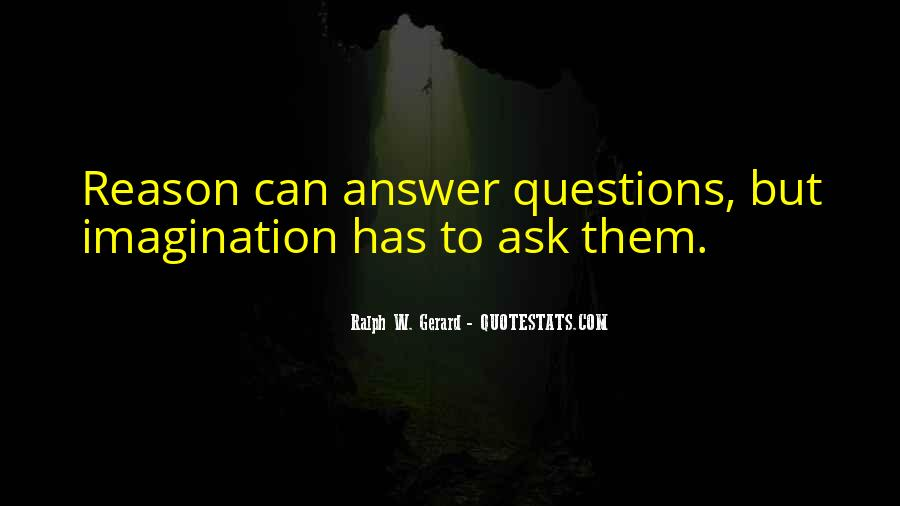 Quotes About Answers #34120