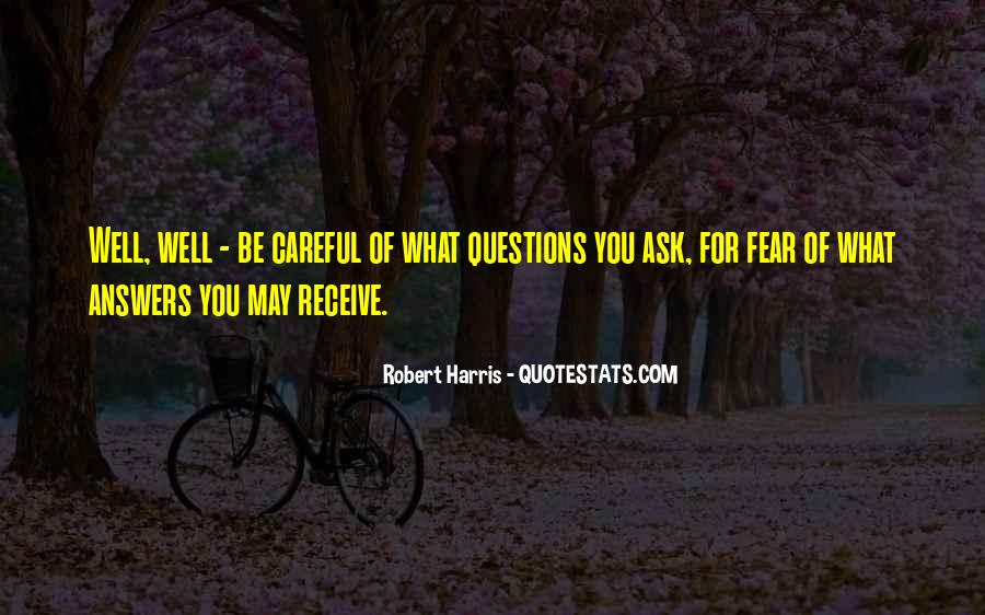 Quotes About Answers #35442