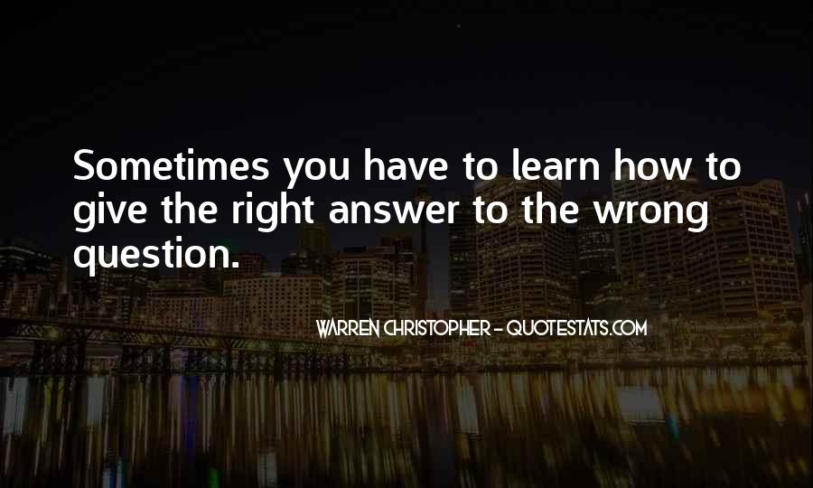 Quotes About Answers #38905