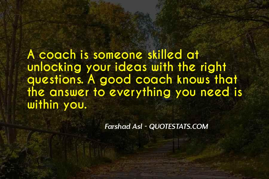 Quotes About Answers #39228