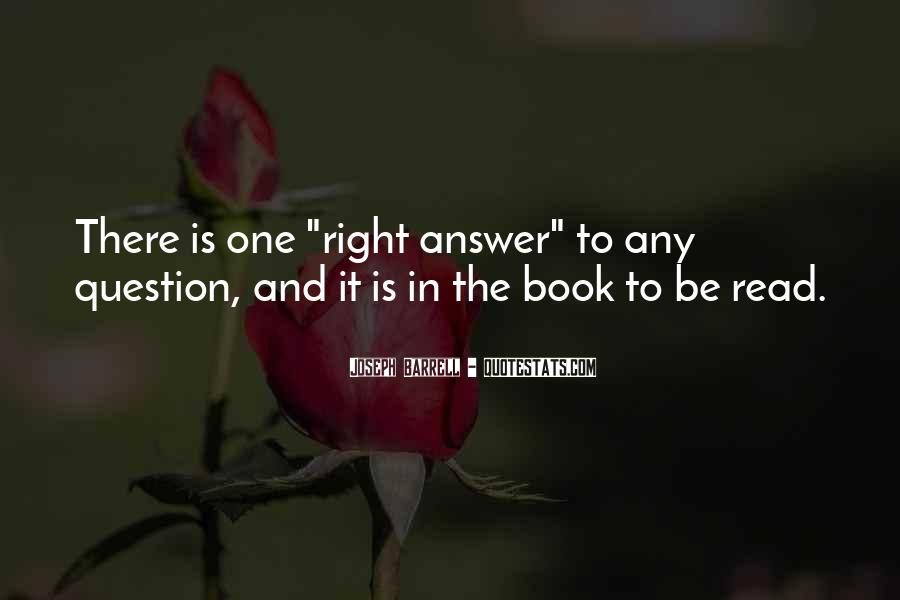 Quotes About Answers #4109