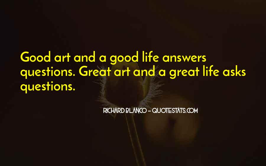 Quotes About Answers #6694