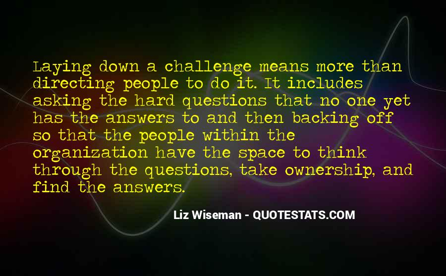 Quotes About Answers #6774