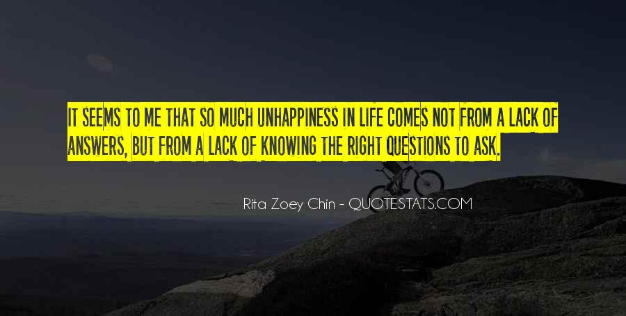 Quotes About Answers #7020