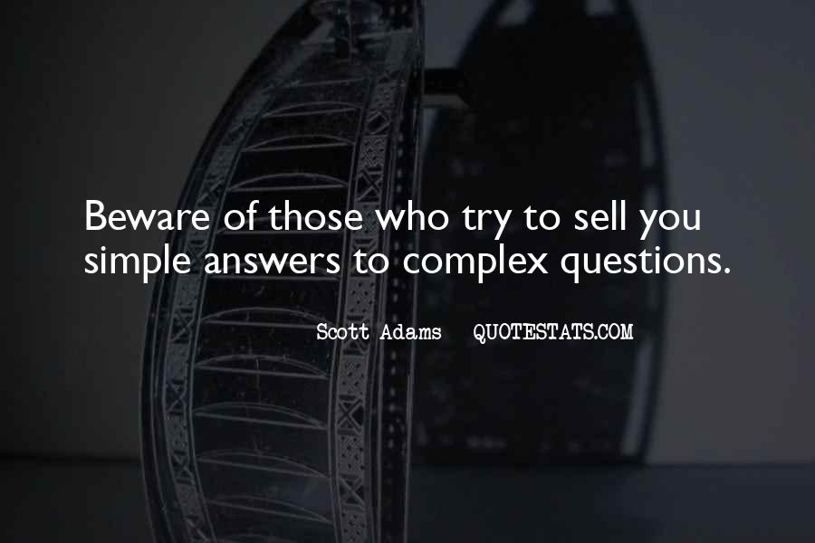 Quotes About Answers #9151