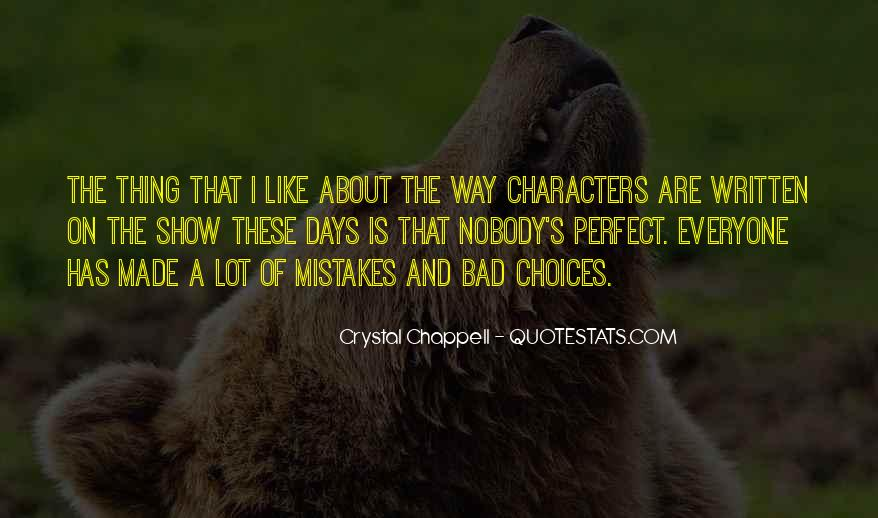 Quotes About Mistakes And Choices #40801