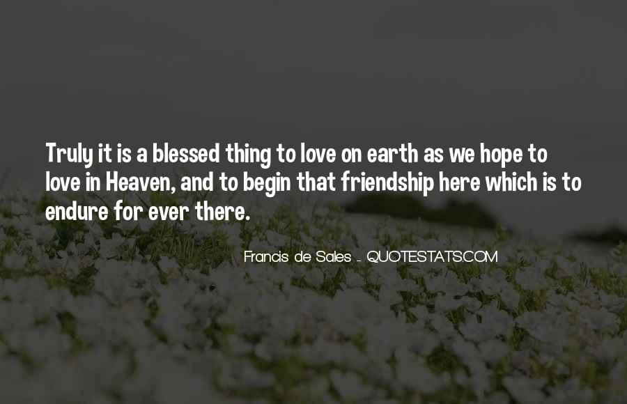 Quotes About Blessed Friendship #1052511