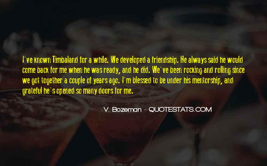 Quotes About Blessed Friendship #1865414