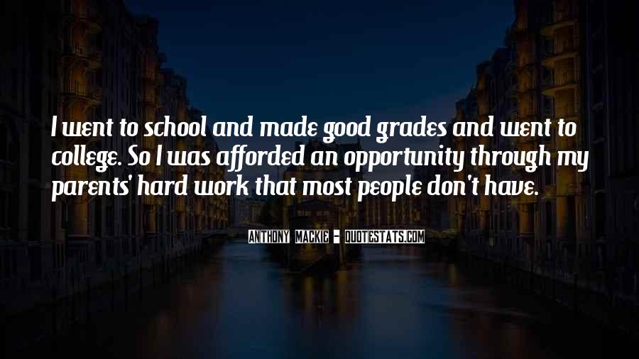 Quotes About Opportunity And Hard Work #911547