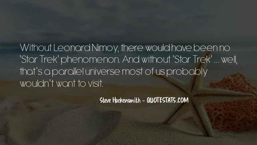 Quotes About Parallel Universe #1022392