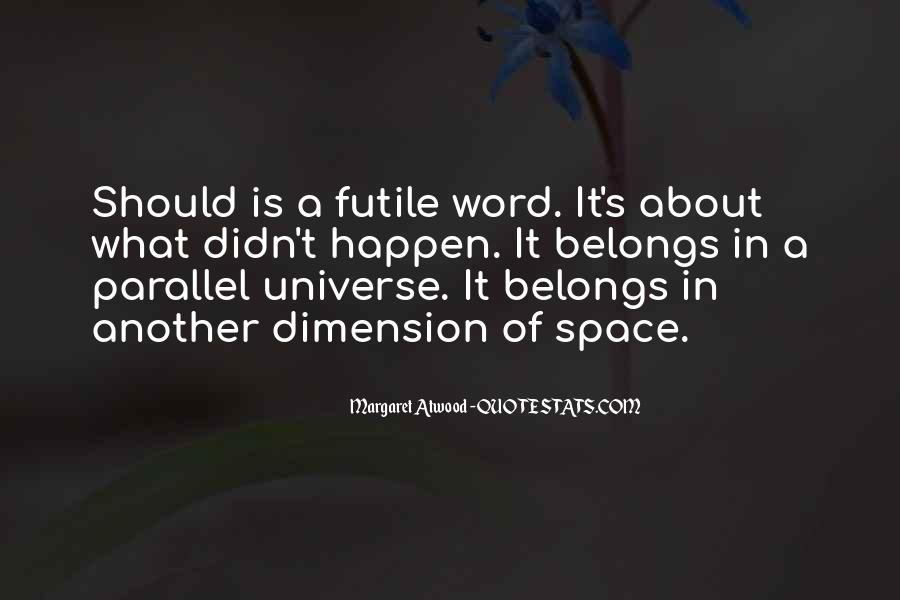 Quotes About Parallel Universe #401048