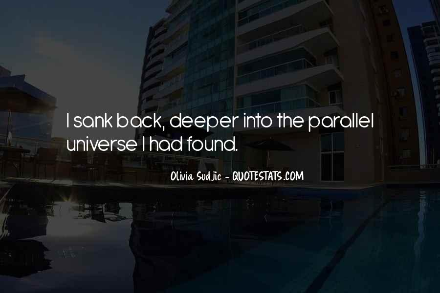 Quotes About Parallel Universe #551382